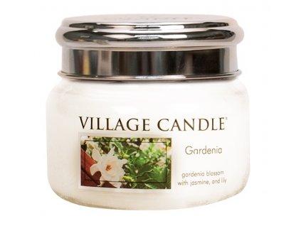 Village Candle Vonná svíčka ve skle, Gardénie - Gardenia, 11oz