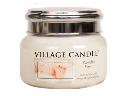 Village Candle Vonná svíčka ve skle, Pudrová svěžest - Powder fresh, 11oz