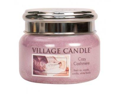 Village Candle Vonná svíčka ve skle, Kašmírové pohlazení - Cozy Cashmere, 11oz