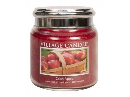 Village Candle Vonná svíčka ve skle - Svěží jablko - Crisp Apple, 16oz