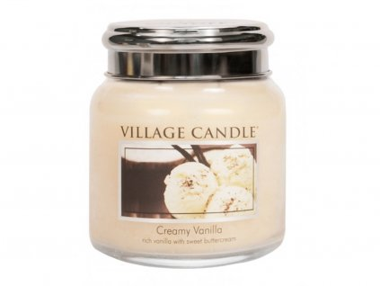 41861 1 village candle vonna svicka ve skle vanilkova zmrzlina creamy vanilla 16oz