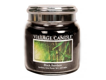 Village Candle Vonná svíčka ve skle, Bambus - Black Bamboo, 16oz