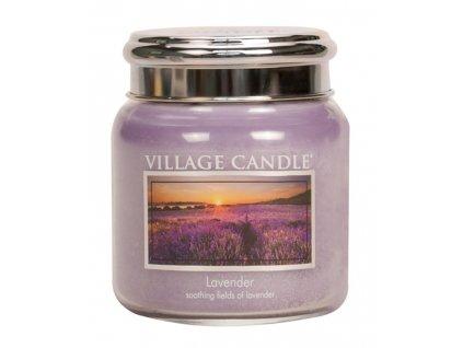 Village Candle Vonná svíčka ve skle, Levandule - Lavender, 16oz