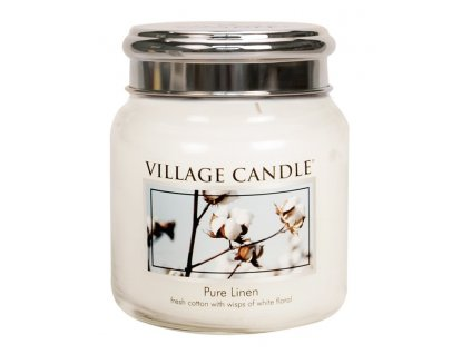 Village Candle Vonná svíčka ve skle - Čisté prádlo - Pure Linen, 16oz