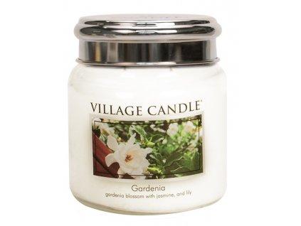 Village Candle Vonná svíčka ve skle, Gardénie - Gardenia, 16oz