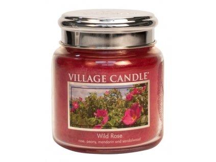 Village Candle Vonná svíčka ve skle - Divoká růže - Wild Rose, 16oz