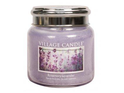 Village Candle Vonná svíčka ve skle, Rozmarýn Levandule - Rosemary Lavender, 16oz