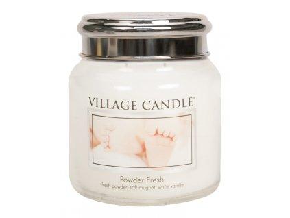 Village Candle Vonná svíčka ve skle, Pudrová svěžest - Powder fresh, 16oz