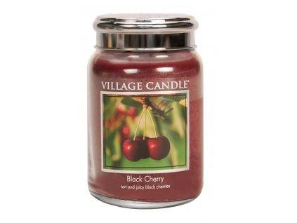 Village Candle Vonná svíčka ve skle, Černá třešeň - Black Cherry, 26oz