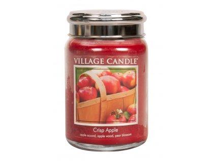 Village Candle Vonná svíčka ve skle, Svěží jablko - Crisp Apple, 26oz