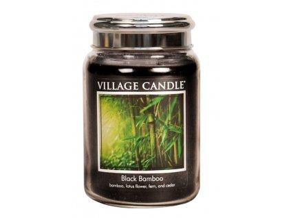 Village Candle Vonná svíčka ve skle - Bambus - Black Bamboo, 26oz