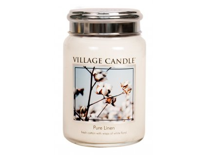 Village Candle Vonná svíčka ve skle - Čisté prádlo - Pure Linen, 26oz