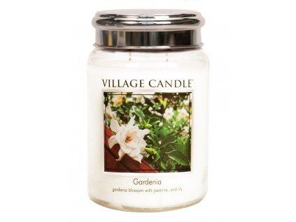 Village Candle Vonná svíčka ve skle, Gardénie - Gardenia, 26oz