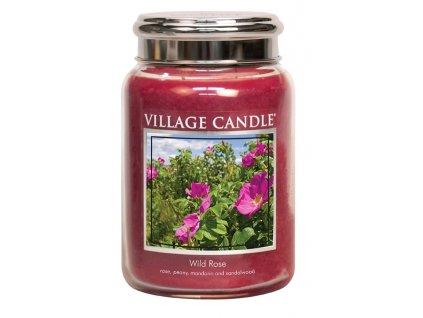 Village Candle Vonná svíčka ve skle, Divoká růže - Wild Rose, 26oz