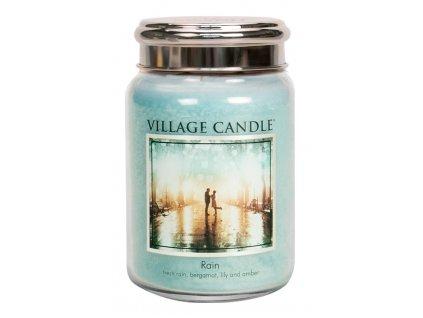Village Candle Vonná svíčka ve skle, Déšť - Rain, 26oz