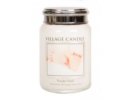 Village Candle Vonná svíčka ve skle, Pudrová svěžest - Powder fresh, 26oz