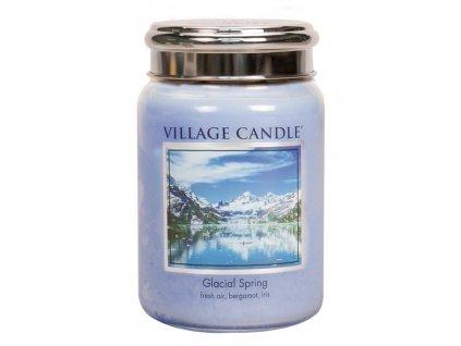 Village Candle Vonná svíčka ve skle, Ledovcový vánek - Glacial Spring, 26oz