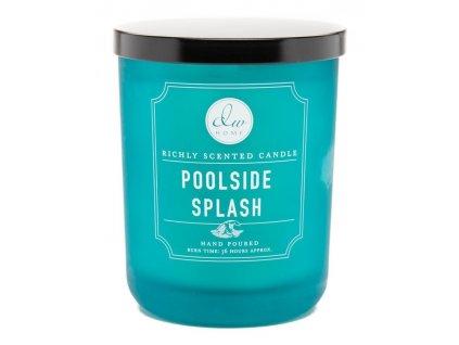 DW Home Vonná svíčka ve skle Den u Bazénu - Poolside Splash, 15oz