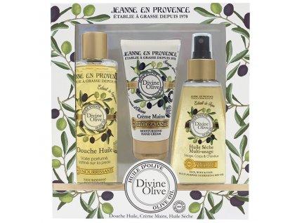 Jeanne en Provence Dárková sada - Oliva, 3ks