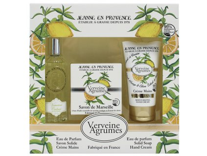 Jeanne en Provence Dárková sada - Verbena a citrón, 3ks