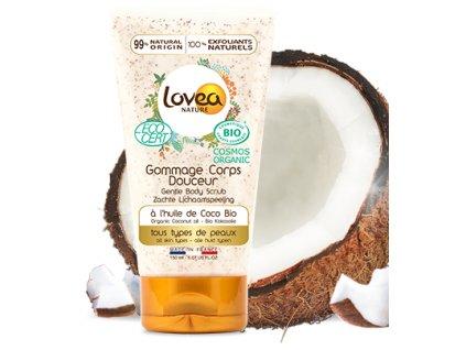 Lovea BIO Regenerační Tělový peeling - Kokosový olej, 150ml