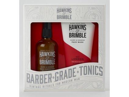Hawkins & Brimble Pánská Dárková sada (Mycí gel na obličej 150ml + Pleťový krém 100ml)