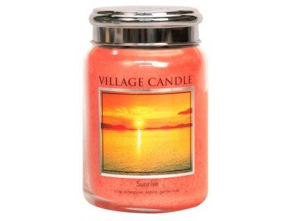 Village Candle Vonná svíčka ve skle, Východ slunce - Sunrise, 26oz