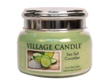 Village Candle Vonná svíčka ve skle - Mořská Svěžest - Sea Salt Cucumber, 26oz