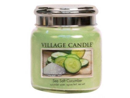 Village Candle Vonná svíčka ve skle - Mořská Svěžest - Sea Salt Cucumber, 16oz