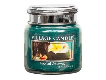 Village Candle Vonná svíčka ve skle, Víkend v tropech - Tropical Getaway, 3,75oz