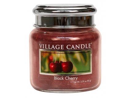 Village Candle Vonná svíčka ve skle, Černá třešeň - Black Cherry, 3,75oz