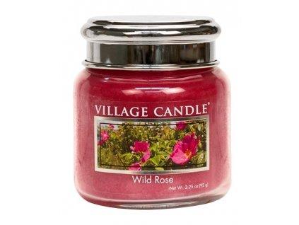 Village Candle Vonná svíčka ve skle, Divoká růže - Wild Rose, 3,75oz
