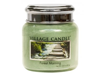 Village Candle Vonná svíčka ve skle, Lesní Probuzení - Forest Morning, 3,75oz