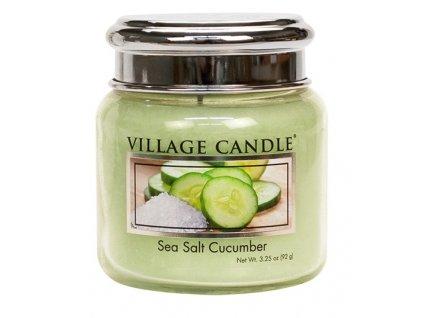 Village Candle Vonná svíčka ve skle, Mořská Svěžest - Sea Salt Cucumber, 3,75oz