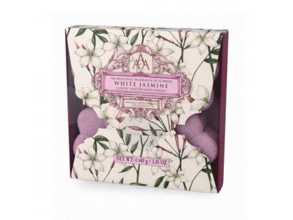 Somerset Toiletry Šumivá květina do koupele - Bílý jasmín, 4x40g