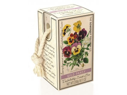 Somerset Toiletry Luxusní Peelingové mýdlo na provázku - Maceška, 230g