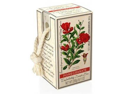 Somerset Toiletry Luxusní Peelingové mýdlo na provázku - Granátové Jablko, 230g