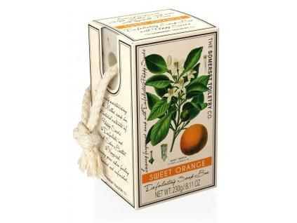 Somerset Toiletry Luxusní Peelingové mýdlo na provázku - Sladký Pomeranč, 230g