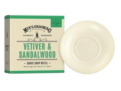 Scottish Fine Soaps Pánské Mýdlo na holení v krabičce - Vetiver a Santalové dřevo, 100g