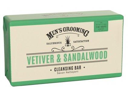 Scottish Fine Soaps Pánské Tělové mýdlo - Vetiver a Santalové dřevo, 220g