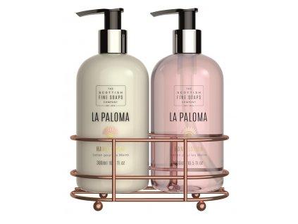 Scottish Fine Soaps Dárková sada - La Paloma (tekuté mýdlo + mléko na ruce), 2x300ml