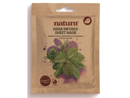 Natura Textilní Pleťová Maska proti nedokonalostem pleti, 22ml