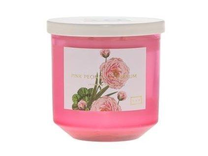LAB Vonná svíčka Růžová pivoňka a Muškát - Pink Peony & Geranium, 14oz