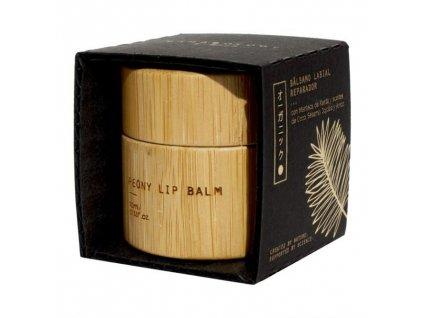 Bamboology Balzám na rty s pivoňkovou vůní, 10 ml
