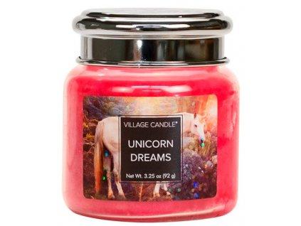 Village Candle Vonná svíčka ve skle - Sny jednorožce - Unicorn Dreams, 26oz