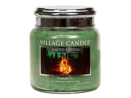Village Candle Vonná svíčka ve skle - Fireside Fir, 16oz