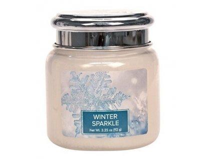 Village Candle Vonná svíčka ve skle - Zimní záře - Winter Sparkle, 3,75oz