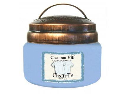 Chestnut Hill Vonná svíčka ve skle Čisté tričko - Clean T's, 10oz