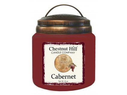 Chestnut Hill Vonná svíčka ve skle Cabernet - Cabernet, 16oz