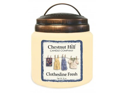Chestnut Hill Vonná svíčka ve skle Čisté prádlo - Clothesline Fresh, 16oz